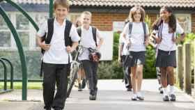 Alumnos de un colegio privado.