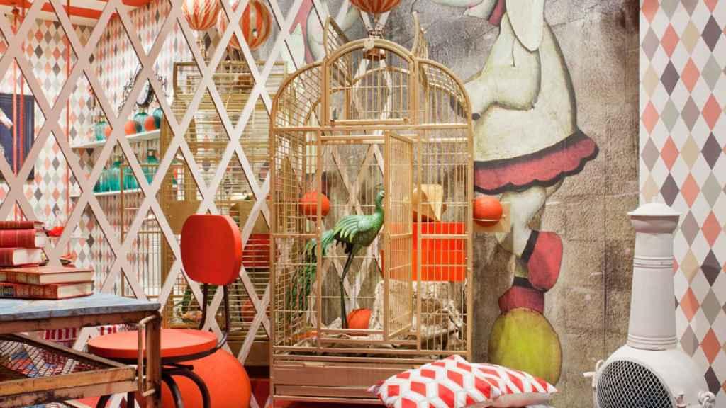 El espacio dedicado a la lucha contra el cáncer infantil repleto de motivos geométricos. | Foto: Casa Decor.