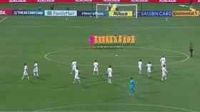 Minuto de silencio antes del partido entre Australia y Arabia Saudí.
