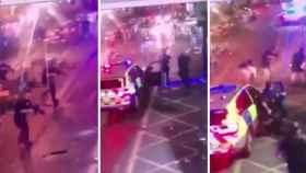 Imagen de la policía disparando a los terroristas.