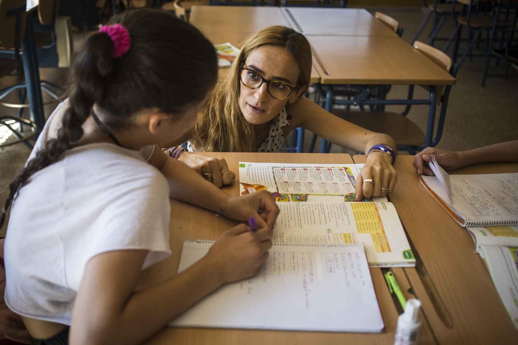 Celia Mendez, tutora de segundo de bachillerato y profesora de inglés.