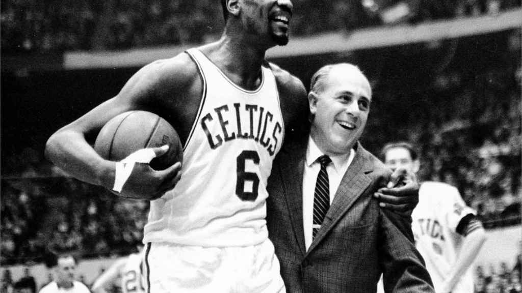 Bill Russell y Red Auerbach.