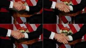 Secuencia del apretón de manos Macron-Trump