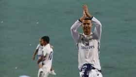 Cristiano Ronaldo celebra el triunfo del Real Madrid en la Champions League.