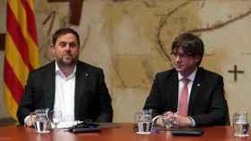 Oriol Junqueras y Carles Puigdemont, en una imagen de archivo.
