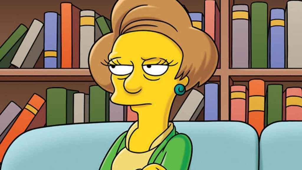 Edna Krabappel, personaje de los Simpsons, firmó un estudio científico.