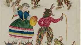 Una de las láminas ilustradas del códice.