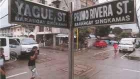 El cruce de las calles Primo de Rivera y general Yagüe en Filipinas.