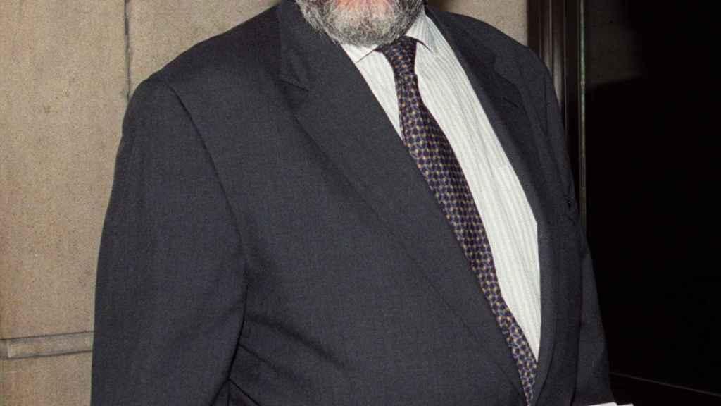 El ex asesor de Mario Conde, Antonio Navalón, antes de declarar por el caso Argentia Trust en 1997