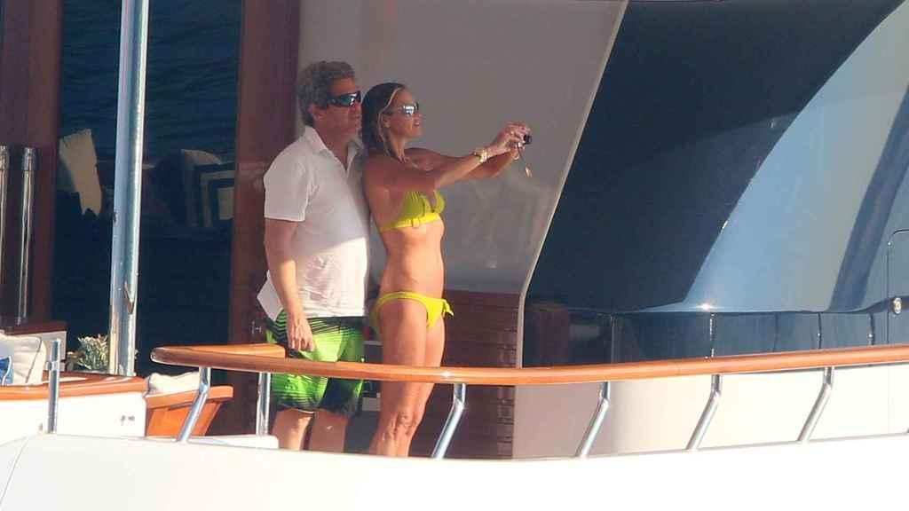 Elle Macpherson y Jeff Soffey en unas pasadas vacaciones en Montecarlo.