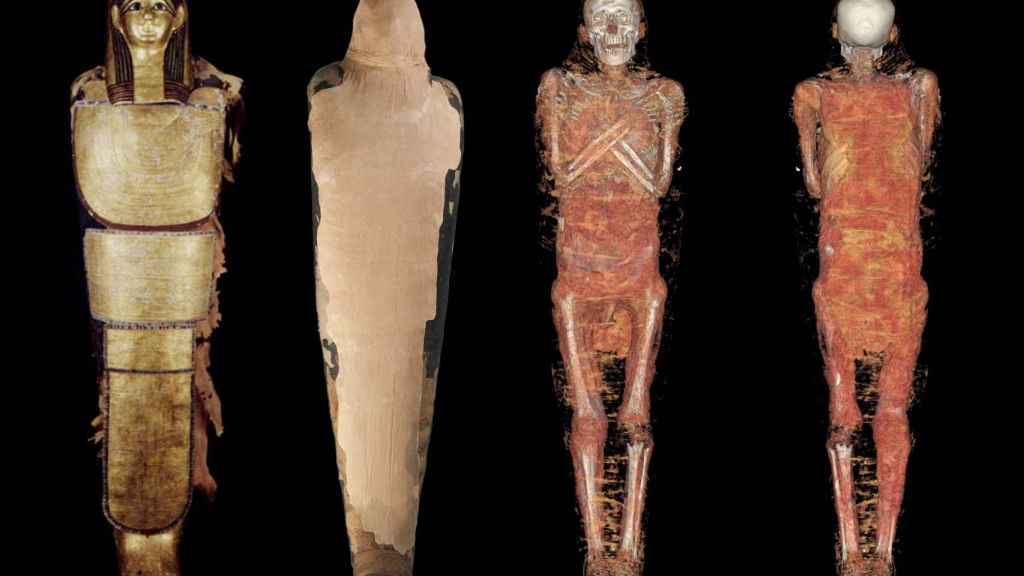 Reconstrucción tridimensional de la momia.