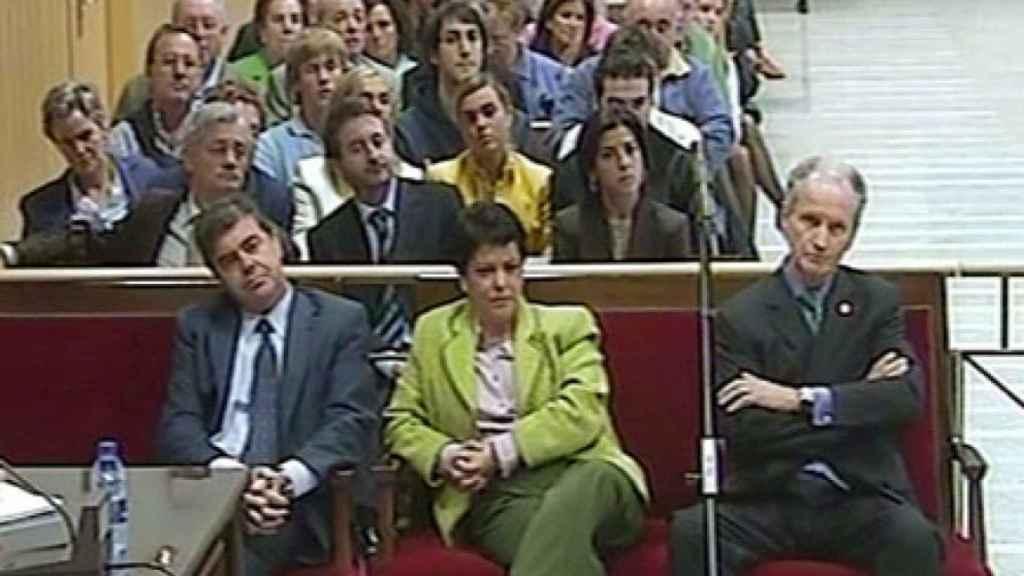 Atutxa, Bilbnao y Knorr, durante el juicio en el TSJ del País Vasco en 2005