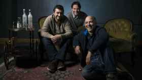 Los tres ingenieros que crearon la destilería. De izda. a dcha.: Javier Domínguez, Ramón Morillo y Víctor Fraile.