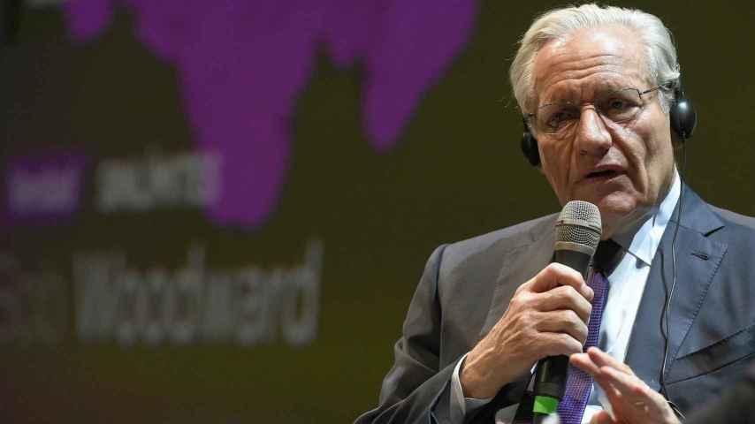 El periodista Bob Woodward este miércoles en el acto Management & Bussiness Summit de Atresmedia.