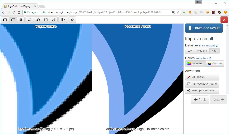 pasar-de-mapa de bits-a-imagen vectorizada-vector