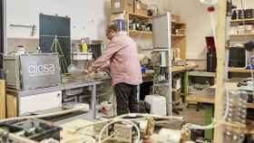 Mock, en su laboratorio.