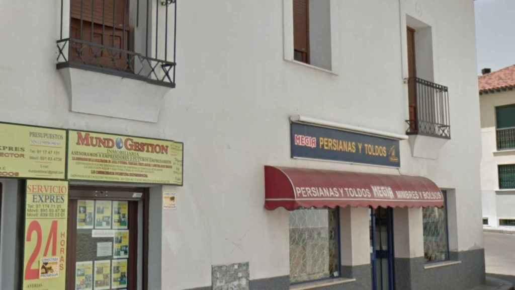 Fachada de la vivienda de la madre de Granados en Valdemoro (Madrid).