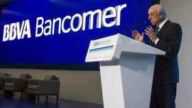 Francisco González, presidente del BBVA, en un acto de la filial mexicana Bancomer.