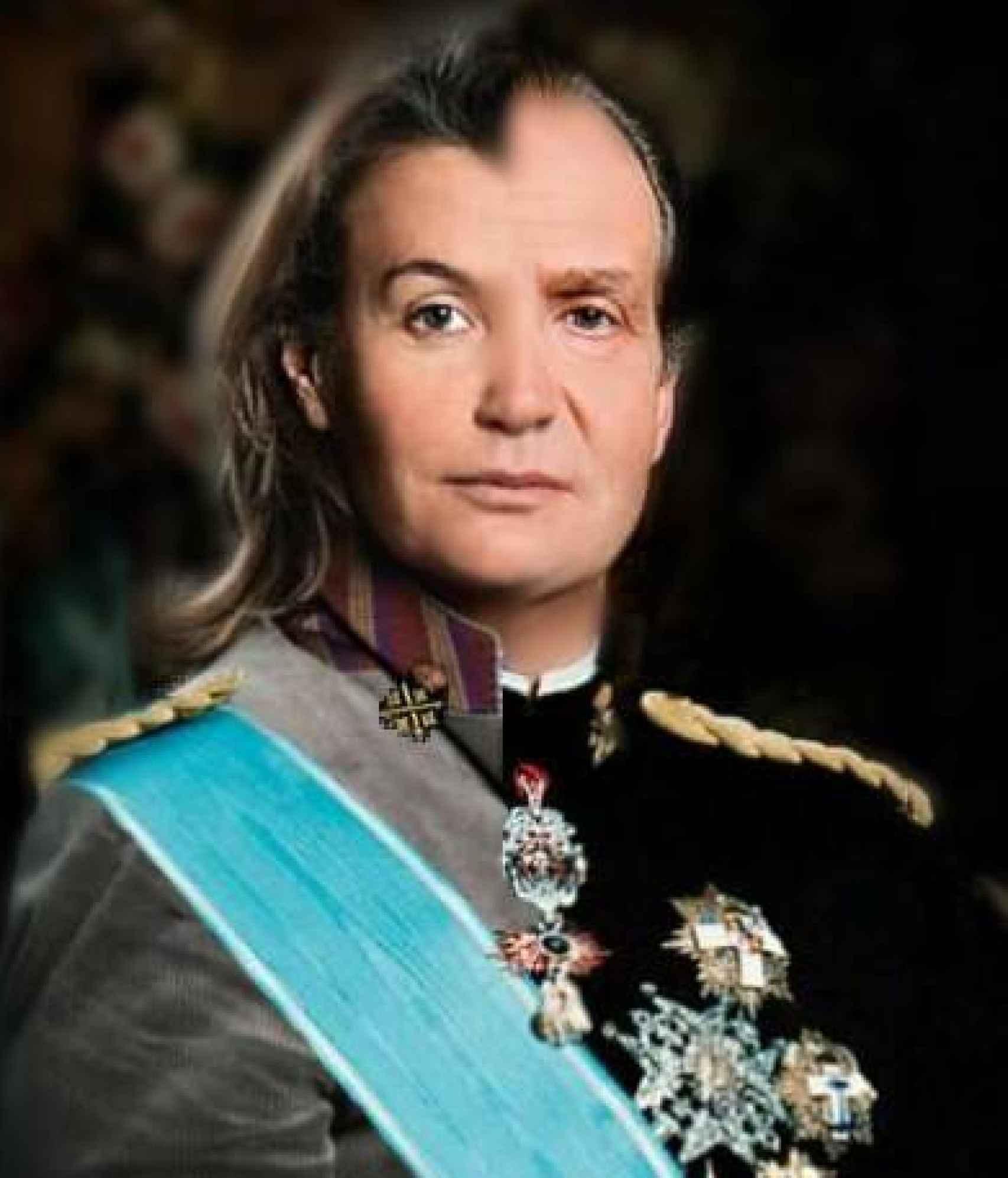 Imagen que demuestra, según Ingrid, su parecido físico con el monarca emérito.