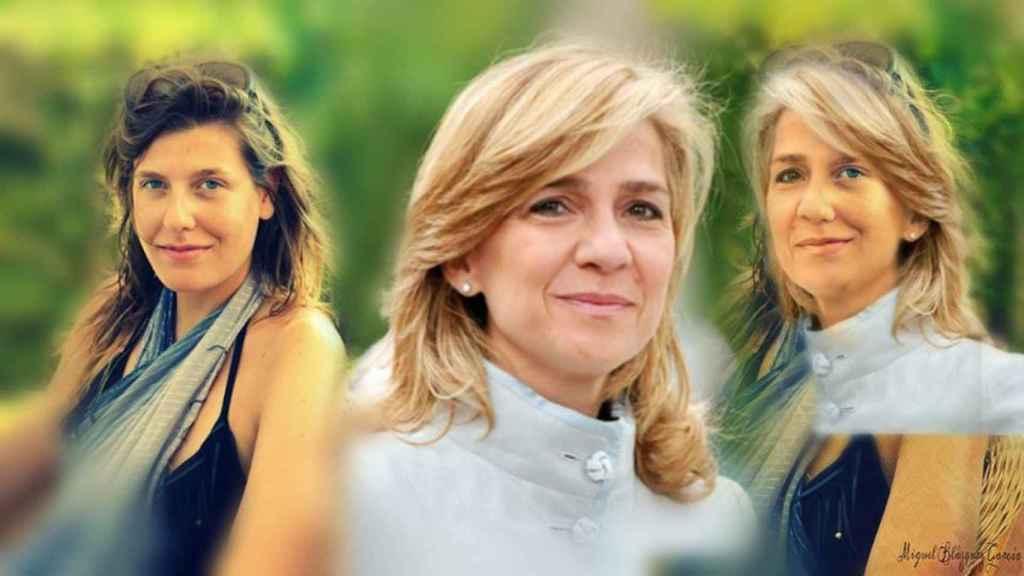 La infanta Cristina también es objeto de fotomontajes que muestran el parecido, o no, con la hija de Ingrid.