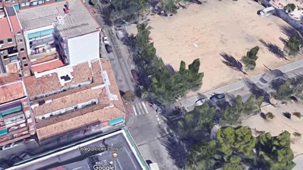 Vista aérea de la casa de Peironcely, 10.