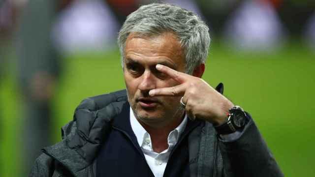 Mourinho, tras ganar la Europa League.