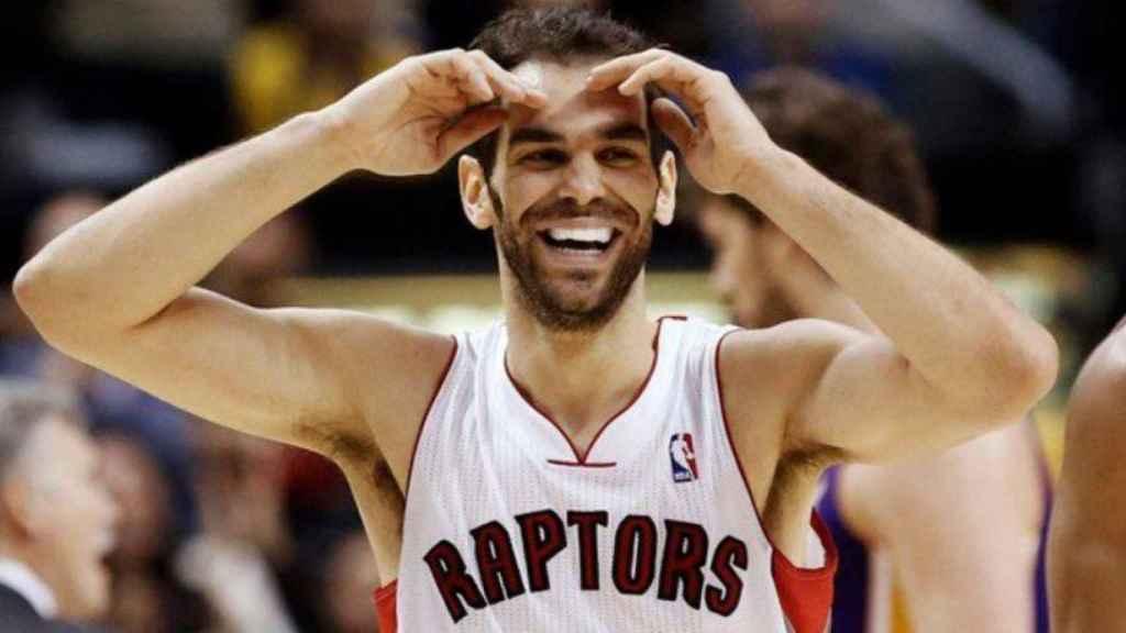 José Manuel Calderón con los Toronto Raptors. (@ElTransistorOC)