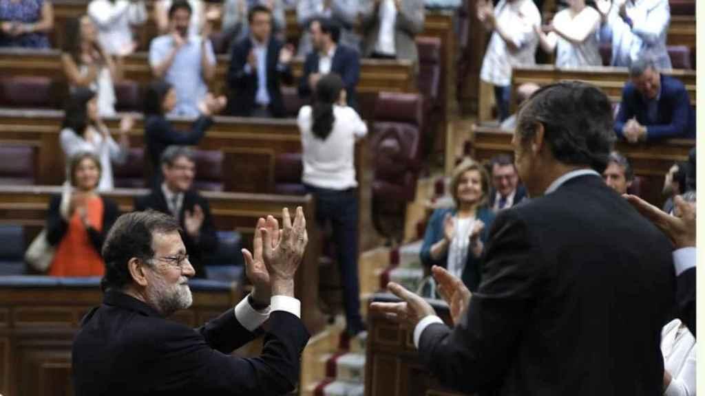 Rajoy e Iglesias, en la reciente moción de censura.