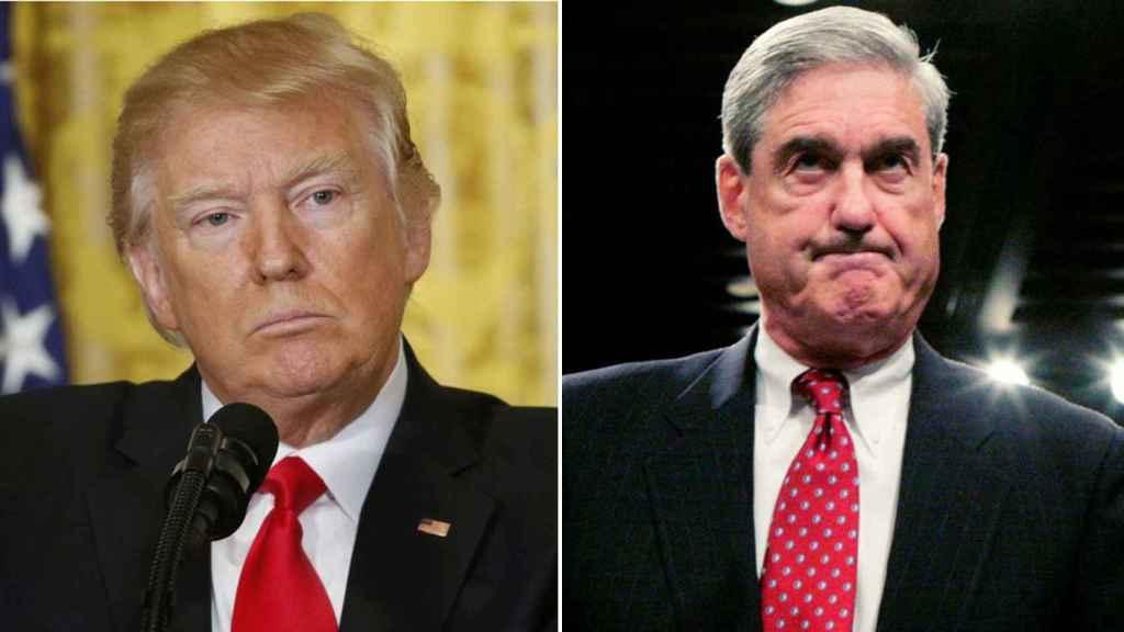 Donald Trump y Robert Mueller.