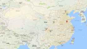 Mapa de China con la ubicación de la ciudad de Xuzhou, donde se ha producido la explosión.