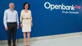 Ana Botín, presidenta del Banco Santander, y Ezequiel Szafir, consejero delegado de Openbank.