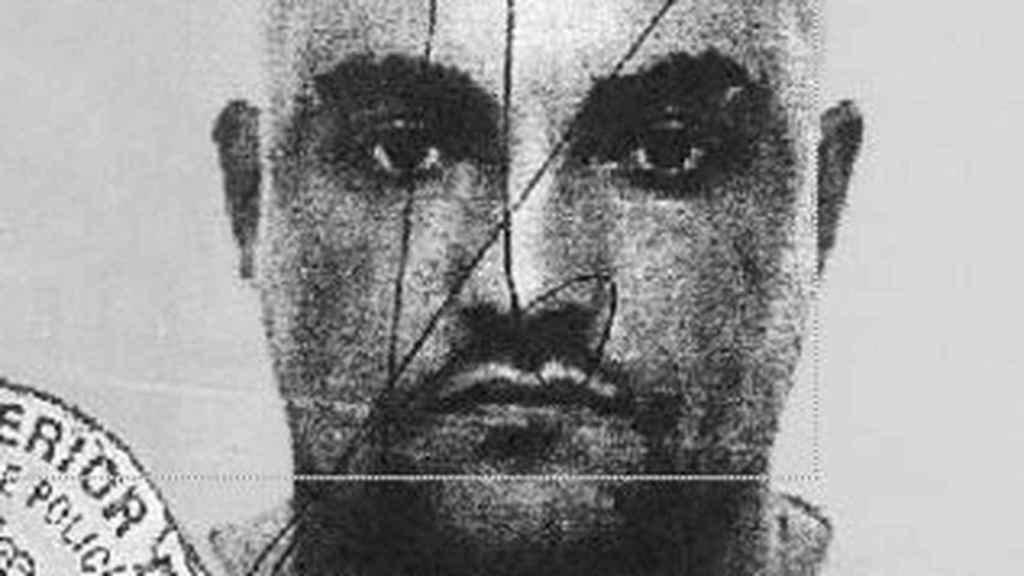 Foto de la ficha policial de Óscar del Pino, vinculado a Hammerskin y detenido por asesinato