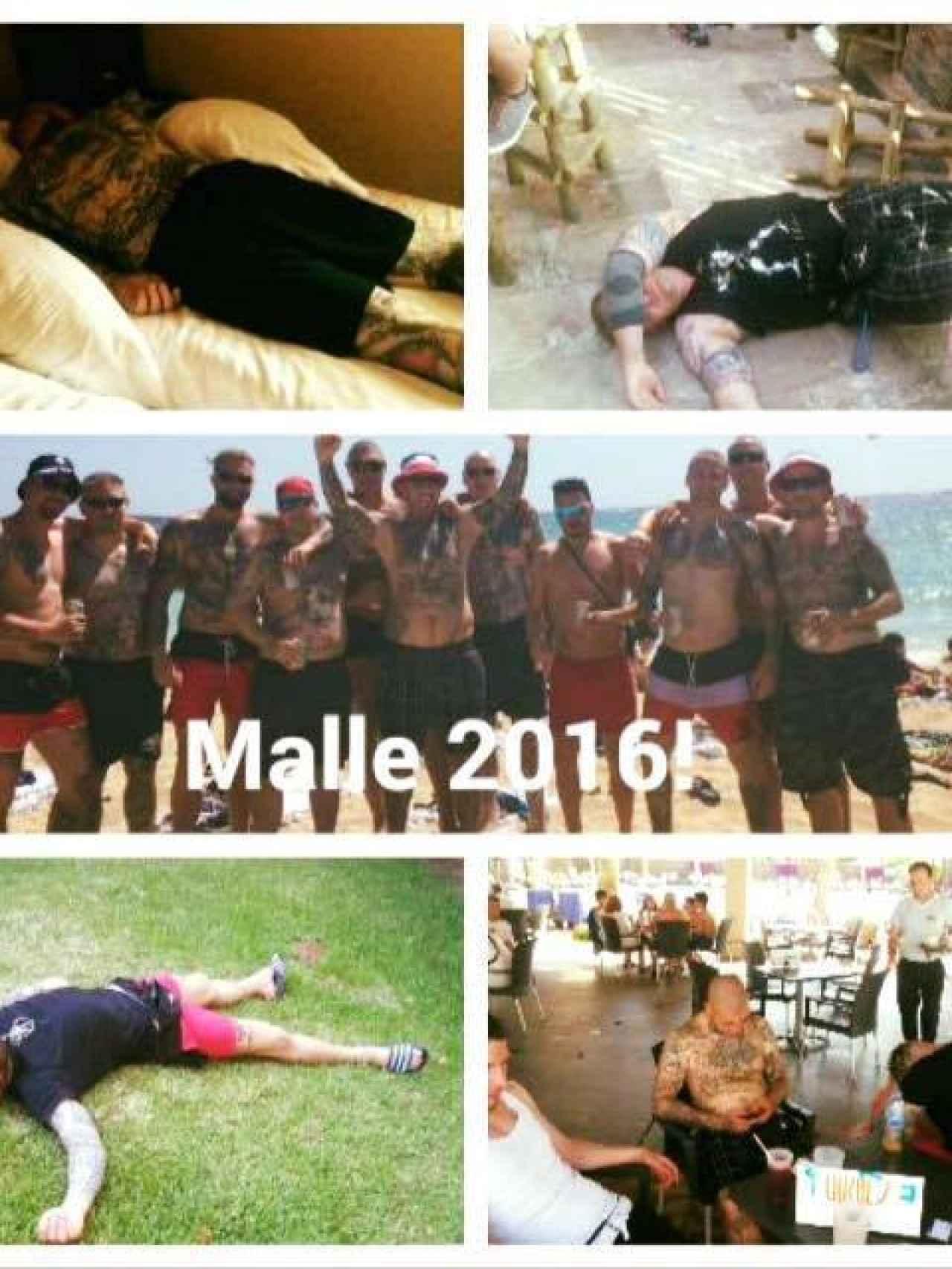 Los miembros de Hammerskin Alemania cuelgan fotos de sus borracheras en Mallorca en las redes sociales