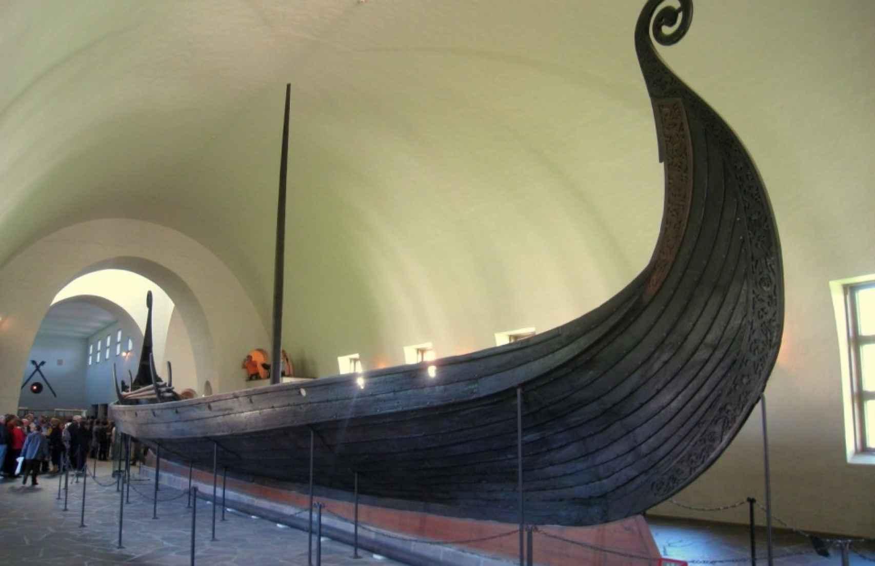 Una embarcación vikinga.