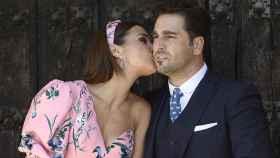 El beso entre Paula Echevarría y David Bustamante.