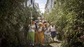 Habitantes de El Gastor durante la celebración del Corpus Christi.