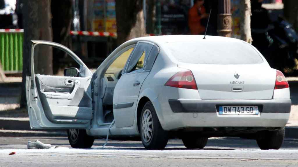 Imagen del vehículo que ha colisionado contra el furgón.