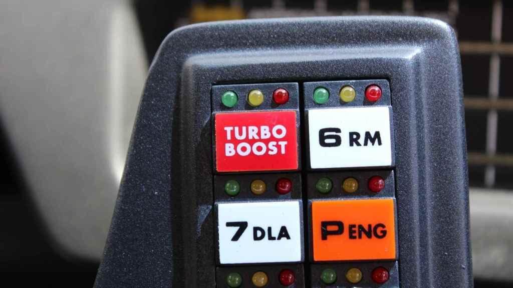 El Kitt de Sabadell también tiene el botón de Turbo Boost, pero no puede saltar como hacía el original