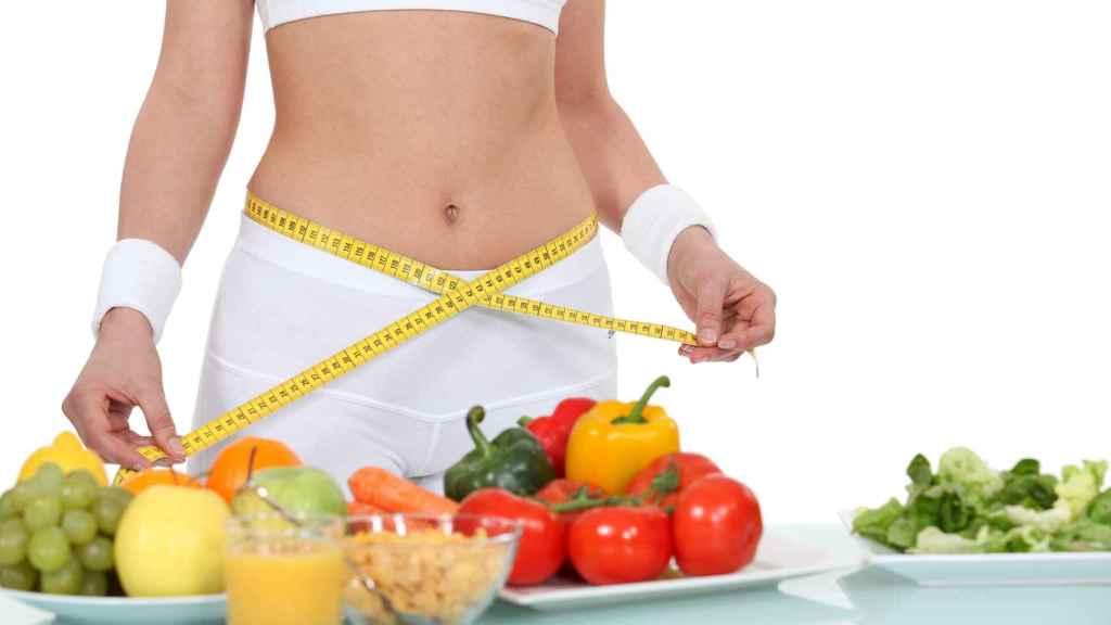 Varios alimentos saludables.