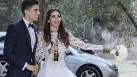 La boda de Melissa Jiménez y Marc Bartra, en imágenes