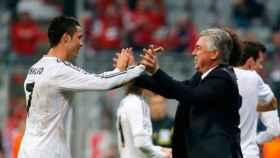 Cristiano Ronaldo y Carlo Ancelotti