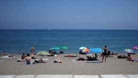 La playa de La Malagueta, en Málaga.