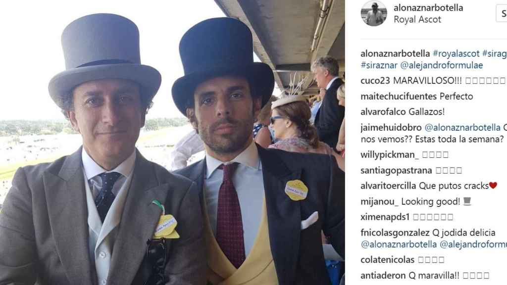 Publicación de Alonso Aznar en su Instagram.