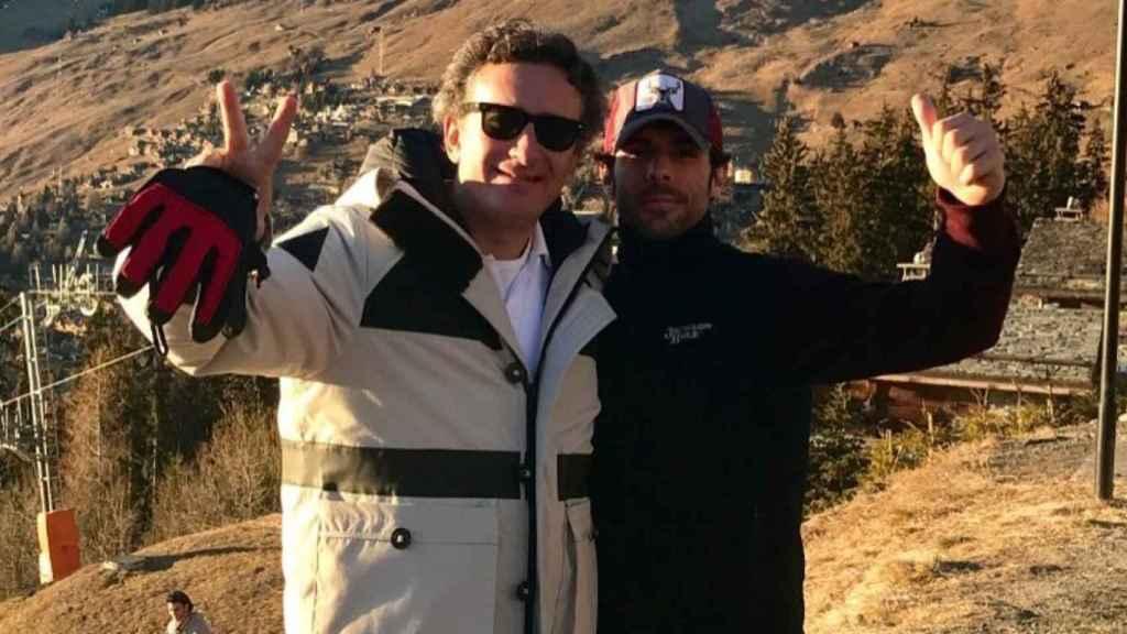 Alejandro Agag y Alonso Aznar en Suiza.