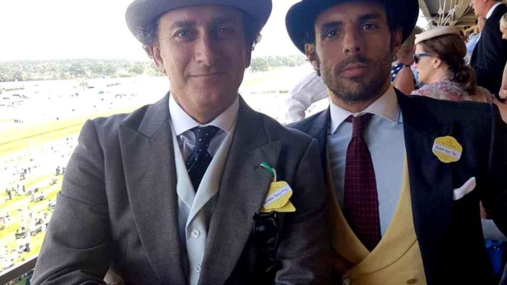 Alonso Aznar y Alejandro Agag en Berkshire, Reino Unido.