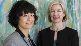 Emmanuelle Charpentier  y Jennifer Doudna, en Madrid