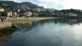 Imagen de la playa de Arealonga, en Redondela (Pontevedra).