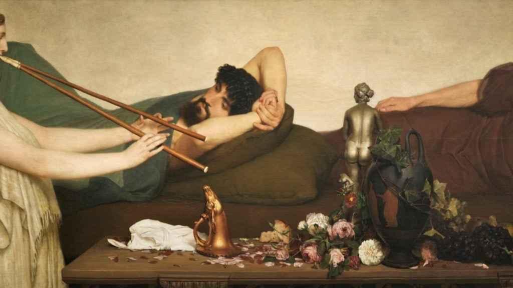 La siesta o escena pompeyana de Lawrence Alma Tadema, (1868). | Foto: Museo del Prado.