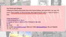 Imagen del correo enviado por Francia cuyo contenido no había trascendido.