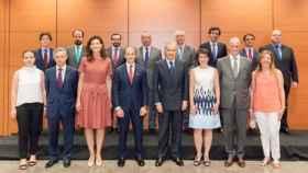 Miembros del nuevo consejo del Banco Popular, con Rodrigo Echenique al frente.